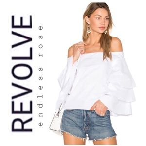 Revolve x Endless Rose Tiered Off The Shoulder Top